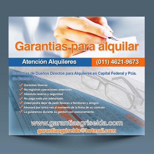 Imagen 1 de 1 de Garantes Para Alquileres En El Gran Bs As What 15 50 26 0220