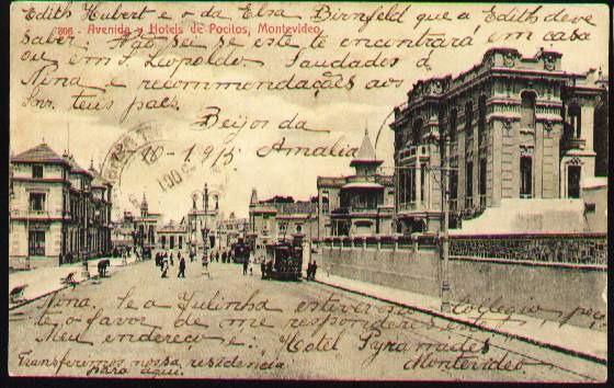 Montevideo 1915 - Avenida Y Hoteles De Pocitos