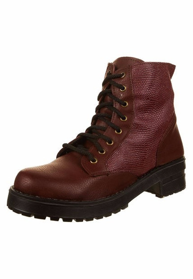 Borcegos Miss Rock Color Bordo Numero 38 39