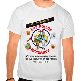 Camiseta Branca Série Breaking Bad Los Pollos Hermanos