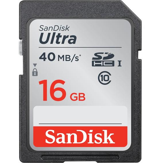 Cartão De Memória Sandisk Ultra Sdhc 16gb
