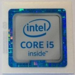 Adesivo Original Intel Core I5 6º Geração