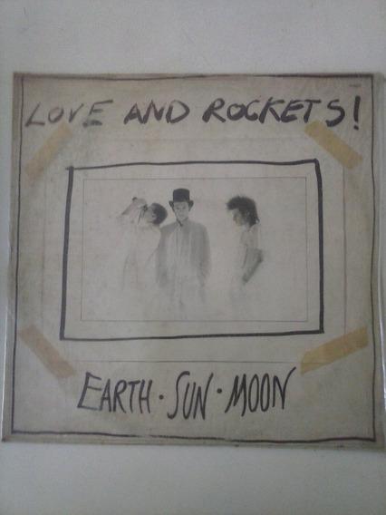 Lp Love And Rockets - Earth Sun Moon 1988