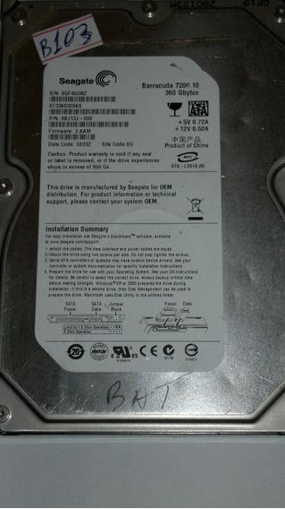 Hd 360 Gb St3360320as - Com Defeito - B103