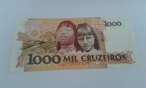 Nota Antiga De 1000 Mil Cruzeiros