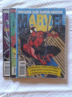 Hqs Origens Dos Super-heróis Marvel - N 1,2,3,6