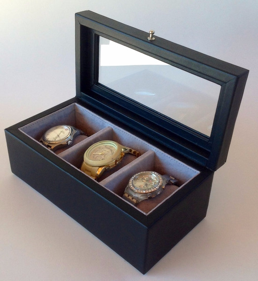 Relojero Caja Para 3 Relojes