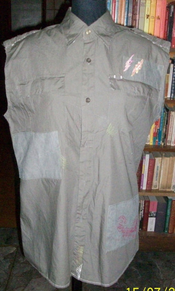 Camisa Gris Oscuro Sin Mangas. Talle 2 (marca Ropa Doceñada)