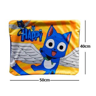 Fairy Tail Happy Sun Con Alas Funda De Almohada De 40 X 50cm