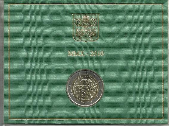 Moneda Vaticano 2 Euro Año 2010 Año Sacerdotal En Estuche