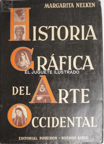 Historia Grafica Arte Occiental Ed Poseidon 1953 Antiguo