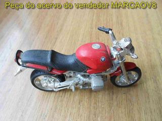 Miniatura 1:18 Moto Bmw Estilo Naked Anos 90 Bom P/ Diorama