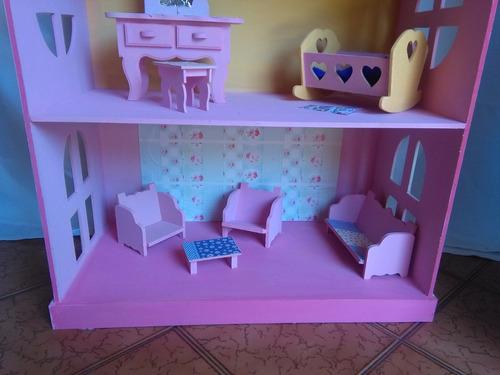 Muebles Casita De Muñecas Fibrofacil Pintado Mercado Libre