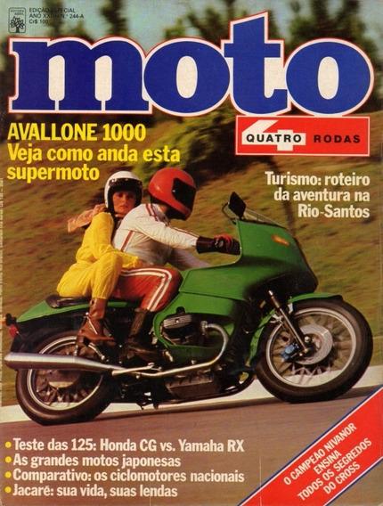 Quatro Rodas Moto N°244a Avallone 1000 Honda Cg 125 Yamaha