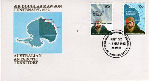 Sobre Primer Dia Antartida Australiana Año 1983 Con Antartid