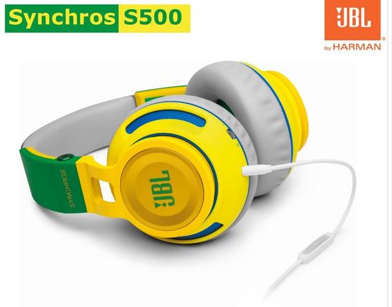 Fone De Ouvido Jbl Synchros S500 Brasil, Over Ear, Amarelo
