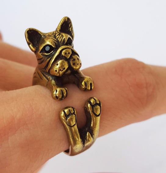 Anel Bulldog Ouro Velho