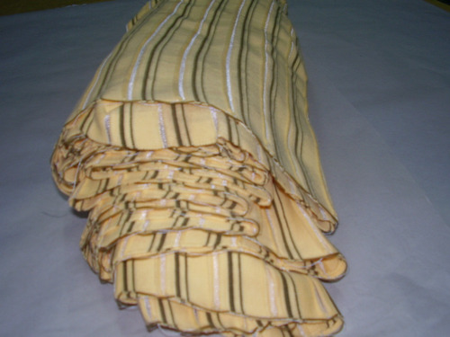 Puños Para Chombas Amarill Crema C/ Tiras Ven X 30 Unid