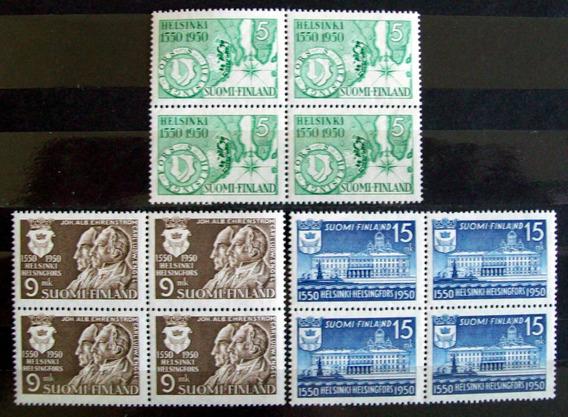 Finlandia, Serie Bloques X 4 Sc 297-9 Helsinki 50 Mint L6020