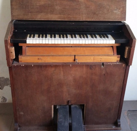 Piano Harmonio Com Fole Da J. Edmundo Bohn Raro - Modelo 10