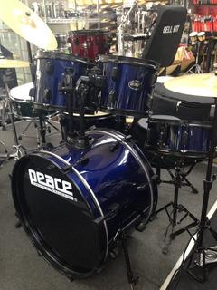 Batería 5 Piezas Drum Kit Completa Con Asiento Platillos