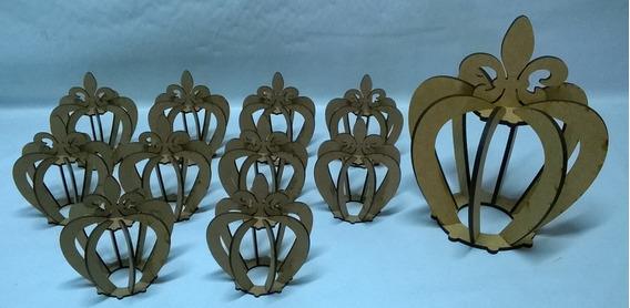Coroa De Mesa 10 Unidades 3mm Com Brinde Decoração De Festas