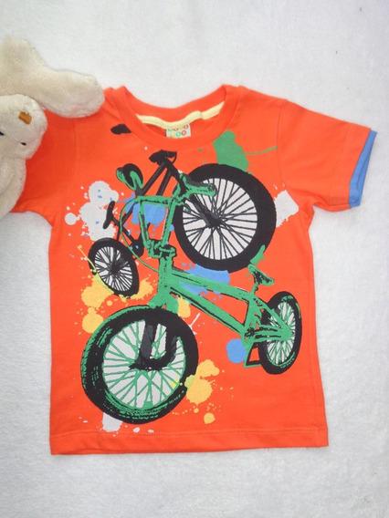 Camiseta Bebê Menino Meia Malha Estampada Have Fun Hf0034