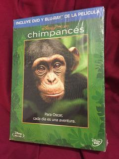 Chimpancés Disney Nature Bluray/dvd Nuevo Y Sellado