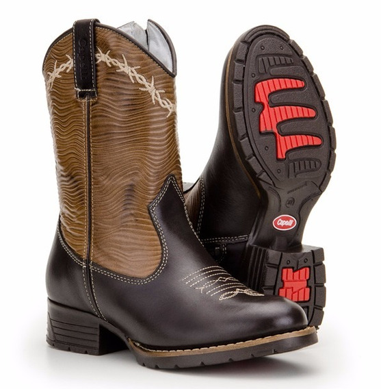 Bota Infantil Country Texana Kids 100%couro Capelli Boots