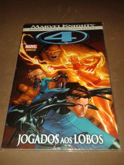 Quarteto Fantástico Jogados Aos Lobos Marvel Knights Panini