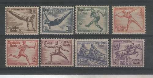 Alemania Reich Serie Completa Olimpiada Berlin Año 1936!!!!!