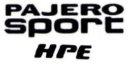 Kit Adesivos Pajero Sport Hpe Resinado Preto