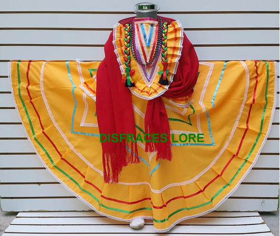 Disfraz Vestido Jalisco Colores 15 Septiembre Revolucion