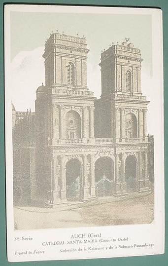 Tarjeta Publicidad Pautauberge Catedral Santa Maria Auch