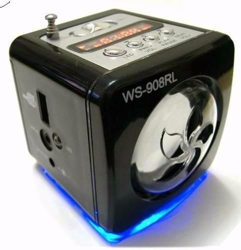 Caixinha De Som Ws-908 Portátil Usb Pen Drive Radio Fm