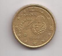 España Moneda De 10 Cents Euro Año 2000 !!!!