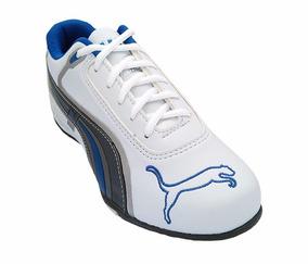 Tênis Puma Dri Branco E Azul