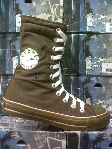 Botas Stone Con Broche Lateral Promoción Local Microcentro