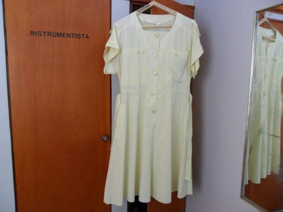 Vestido Amarillo Claro Talle 48-50 Muy Original...