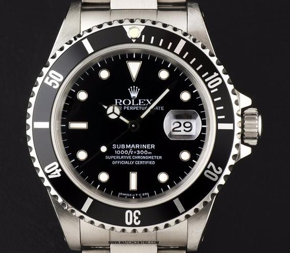 Relógio Rolex Submariner Fundo Preto/azul/verde