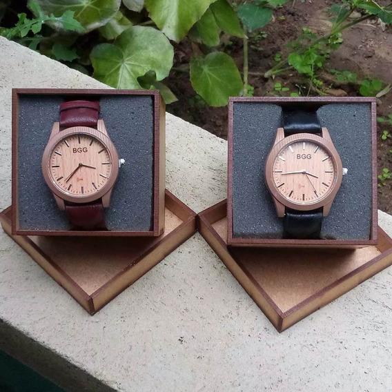 Relógio Masculino Feminino B G G Imitação Madeira