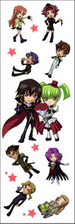 Plancha De Stickers De Anime De Code Geass Lelouch Suzaku