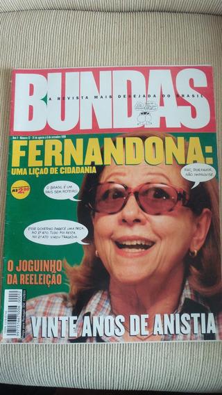 Revista Bundas Nº 12 De Agosto 1999 - Raridade