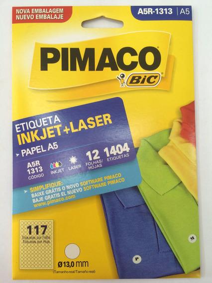 Etiqueta Pimaco A5r-1313 Com 12 Folhas Pimaco C/1 Unidade.