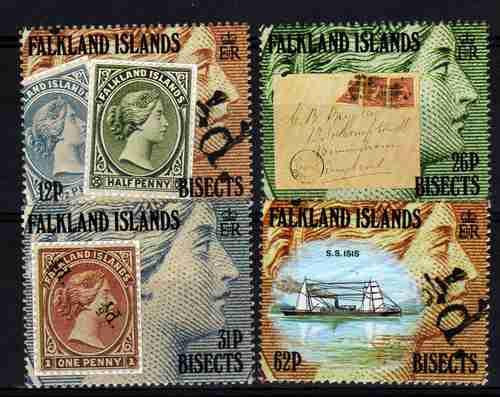 Serie De 4 Estampillas De Malvinas Sellos Antiguos Año 1991