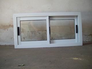 Ventana De Aluminio Blanca Con Vidrios Somos Fabricantes!!!!