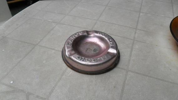 Cenicero Metal Antiguo Publicidad Caños M.royo