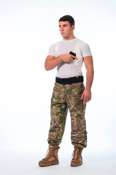Remera Táctica Cover Cop Spy Portaarmamento Sobaquera Hombre