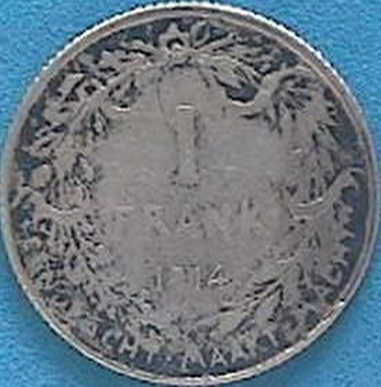 Spg Belgica 1 Franco 1914 Plata