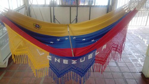 Hamaca Bandera De Venezuela  4,70 X 1,70m Somos Fabricantes